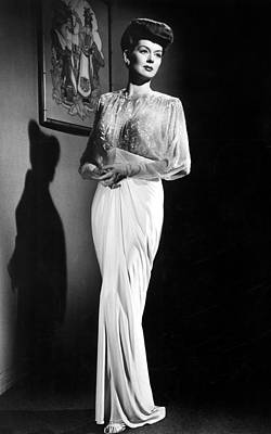 What A Woman, Rosalind Russell Wearing Art Print by Everett