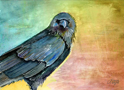 Crows Painting - What Are You Looking At by Arline Wagner