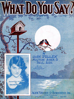 Old Sheet Music Photograph - What Do You Say by Mel Thompson