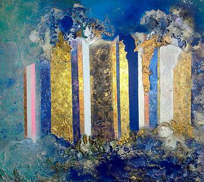 Demolition Mixed Media - What Goes Up...... by Lynda Stevens