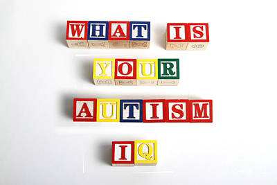 Autistic Photograph - What Is Your Autism Iq by Photo Researchers
