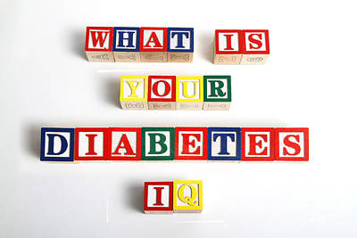 What Is Your Diabetes Iq Art Print by Photo Researchers
