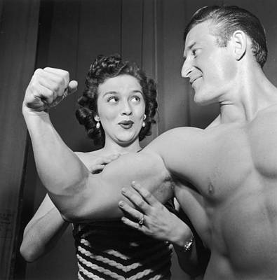 What Muscles! Art Print by Archive Photos