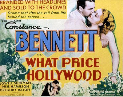 Films By George Cukor Photograph - What Price Hollywood, Neil Hamilton by Everett