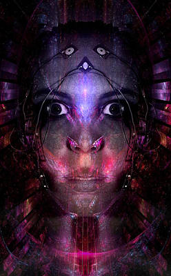 Real Face Digital Art - What The Dream Machine Sees by Bear Welch