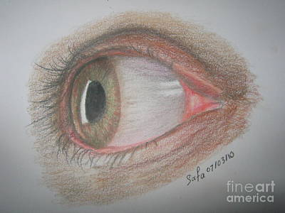 What The Eye Tells You Art Print by Safa Al-Rubaye