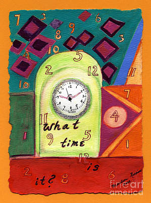 What Time Is It? Art Print by Marlene Robbins