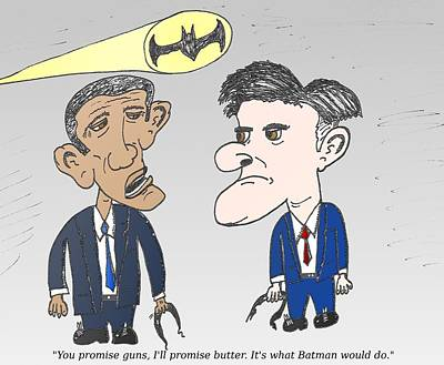 Obama Mixed Media - What Would Batman Do by OptionsClick BlogArt
