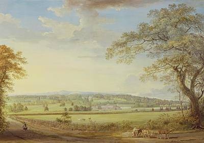 English Gouache Painting - Whatman Turkey Mill In Kent by Paul Sandby