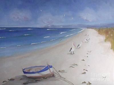 What's In The Boat Art Print by Debra Piro
