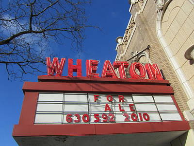 Wheaton Theatre Print by Todd Sherlock