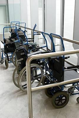 Wheelchairs At Airport Art Print