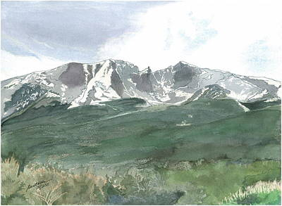 Painting - Wheeler Peak - July Fourth by Joel Deutsch