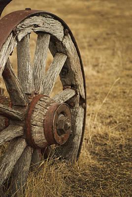 Wagon Wheel Hub Wall Art - Photograph - Wheels 2 by Wayne Stadler