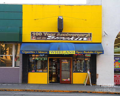 Photograph - Whelans Smoke Shop On Bancroft Way In Berkeley California  . 7d10168 by Wingsdomain Art and Photography
