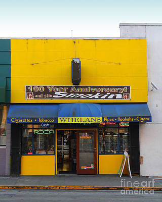 Photograph - Whelans Smoke Shop On Bancroft Way In Berkeley California  . 7d10170 by Wingsdomain Art and Photography