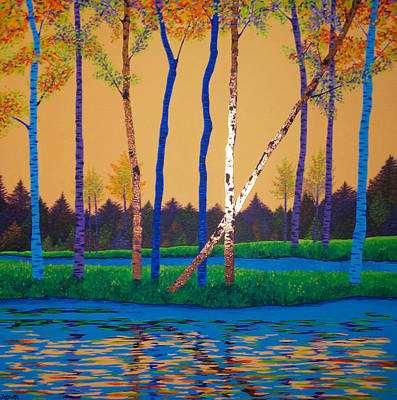 Painting - When Autumn Leaves by Randall Weidner