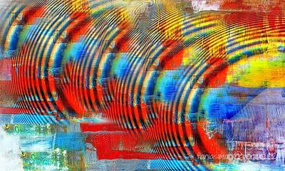 Atom Mixed Media - When Echo Rings by Fania Simon