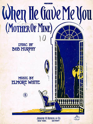 Old Sheet Music Photograph - When He Gave Me You by Mel Thompson