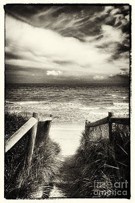 Seaford Photograph - When I Was A Child - Sepia by Hideaki Sakurai