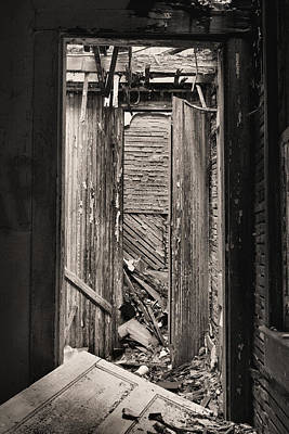 Bad Economy Photograph - When One Door Closes Bw by JC Findley