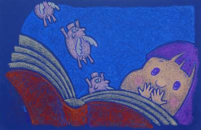 When Pigs Fly Art Print by wendy CHO