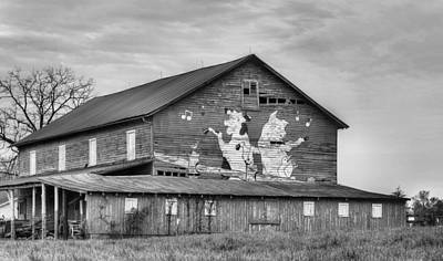 Country And Western Photograph - When The Farmer's Away Bw by JC Findley