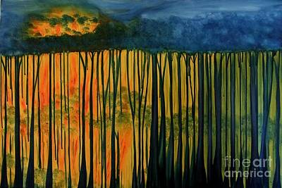 Painting - When The Fires Came by Leonie Higgins Noone