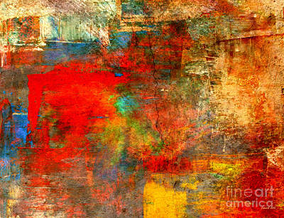 Yesayah Mixed Media - When Visitors Stay Abstract by Fania Simon
