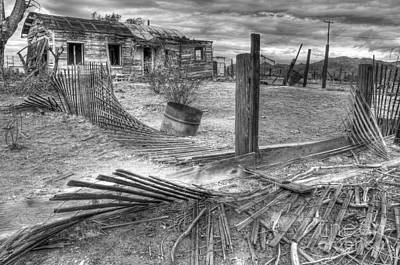 Where Does The Story End Monochrome Art Print by Bob Christopher