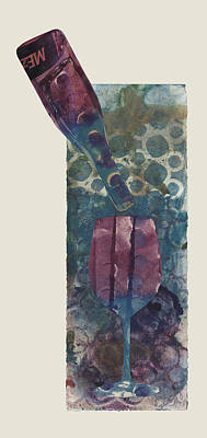 Printmaking Mixed Media - Where Is The Party by Joan Zepf