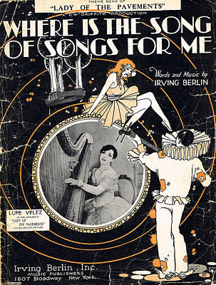 Old Sheet Music Photograph - Where Is The Song Of Songs For Me by Mel Thompson