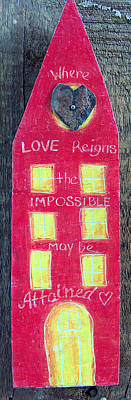 Mixed Media - Where Love Reigns by Racquel Morgan