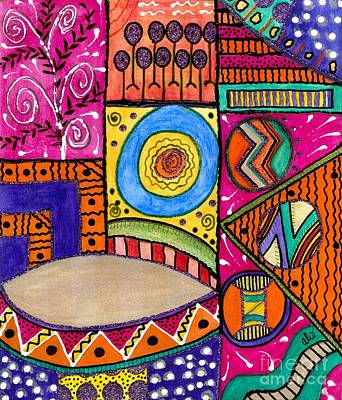 Divine Wisdom Painting - Where The Drum Maker Lives by Angela L Walker