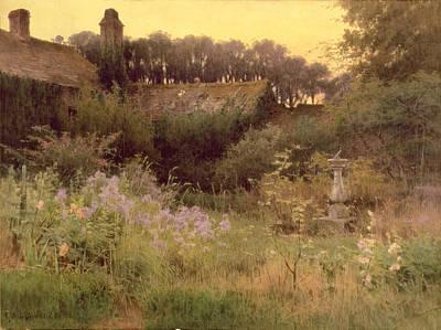Where The Forgotten Garden Lies Asleep Art Print by Georgina M de l Aubiniere