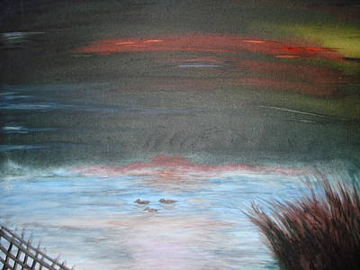 Mangrove Forest Painting - Where The Life Meets The Horizon by Prasenjit Dhar