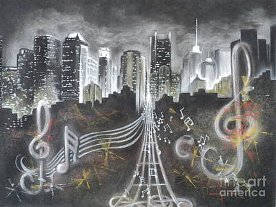 Where The Music Never Sleeps Art Print by Carla Carson