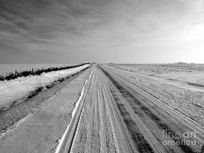 Iowa Farm Photograph - Where The Sidewalk Ends by David Bearden