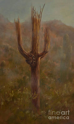 Cave Creek Western Painting - Where There Is Smoke... by Ruth Ann Sturgill