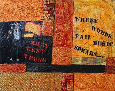 Where Words Fail Music Speaks Art Print by Victoria  Johns