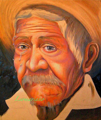 Painting - Whether To Cry Or To Smile by Leomariano artist BRASIL