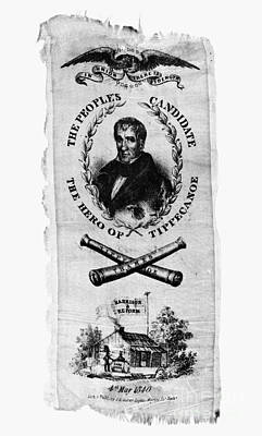 Hard Cider Wall Art - Photograph - Whig Party Banner, 1840 by Granger