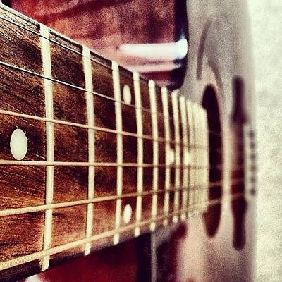 Guitar Wall Art - Photograph - While My #guitar Gently #weeps by Manan Shah