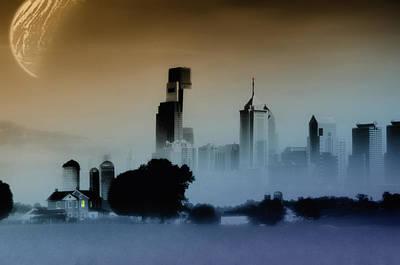 Philadelphia Mixed Media - While The City Sleeps by Bill Cannon