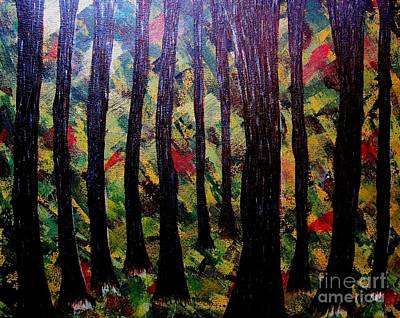 Painting - Whimsical Painting-whimsical Forest by Priyanka Rastogi