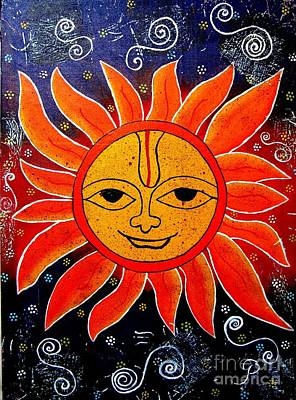 Painting - Whimsical Painting-whimsical Sun God by Priyanka Rastogi