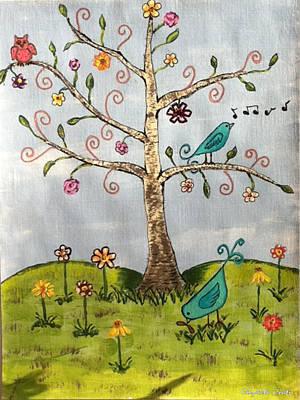 Whimsical Tree Art Print by Elizabeth Coats