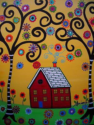 Tree Of Life Painting - Whimsyland IIi by Pristine Cartera Turkus