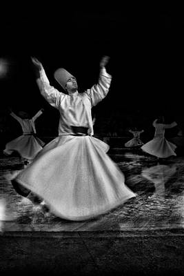 Balck Art Photograph - Whirling Dervish by Okan YILMAZ