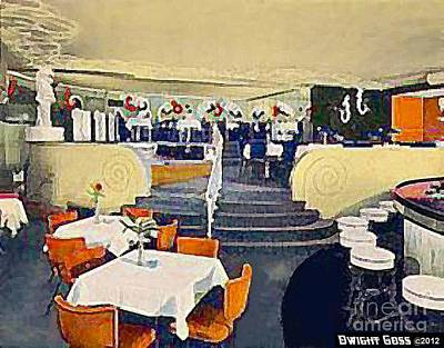 Painting - Whirlpool Bar And Restaurant In Niagara Falls N Y In 1940 by Dwight Goss